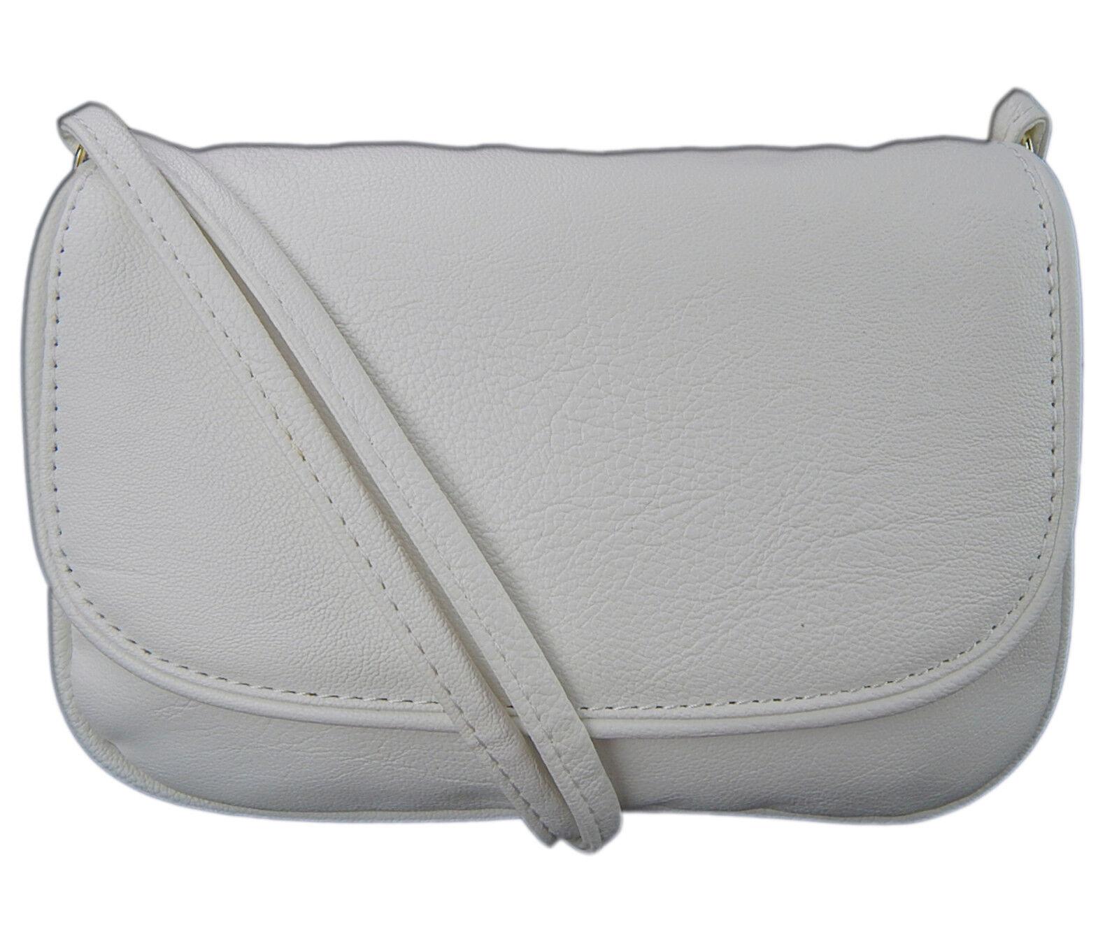 Abendtasche Frauen Exklusive Premium Kleine Handtasche Umhängetasche Weiß 0