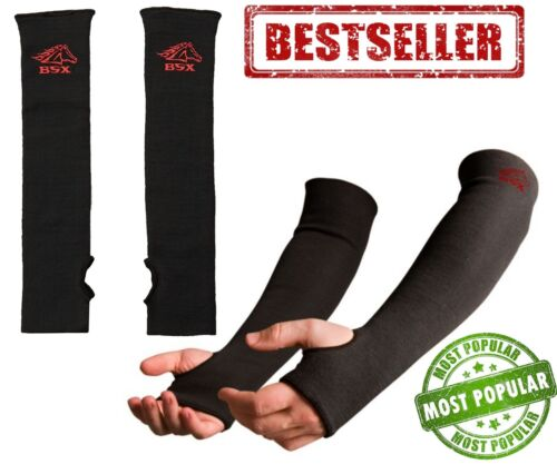 Protective Arm Sleeves Abrasion Flame Cut Resist Double Layer Welding L 18 Inch