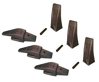 3 Mini Ex Backhoe Skid Bucket Weld On Shanks Teeth Pins 34 Lip- 552x156