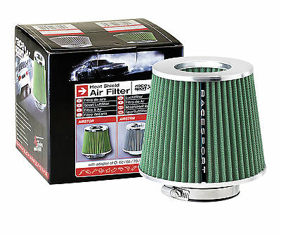 Sumex Race Sport Green Steam Open Funnel Induction Kit Air Filter with Adaptors