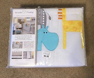 Koala Baby  4 piece crib bedding set Safari Slumber Collection new