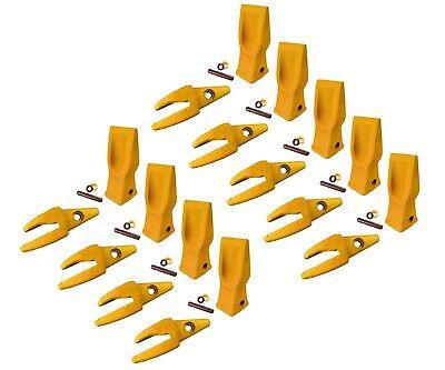 9 Cat Style Backhoe Shanks 34 Lip Abrasion Teeth 4t-2203 119-3205 W Pins