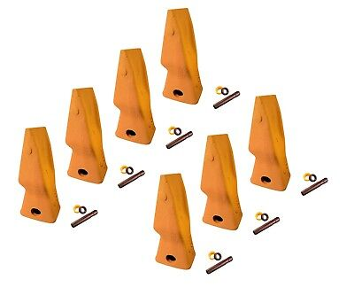 7 - Heavy Duty Abrasion Loader Bucket Teeth W Pins Fits Cat J250 - 9n-4253