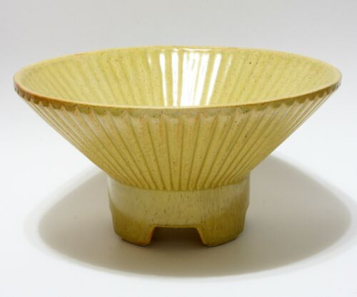 """Vintage UPCO Atomic Bowl 422 Footed Flying Saucer 10 3/4"""" Mid Century Modern"""