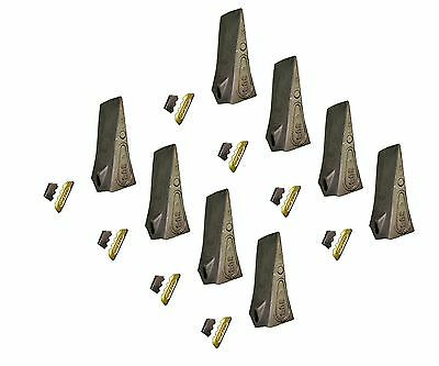 8 - Esco Style Conical Dirt Teeth - 30 Series - W Pin Lock - 30s T30s