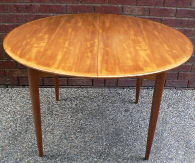 Retro Vintage Dining Table Extension Teak Danish Style By Parker