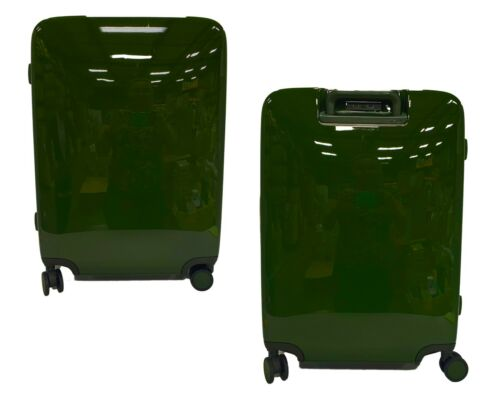 Raden A28 Smart Luggage Hardside Spinner Suitcase, USB, Hunter Green Glossy