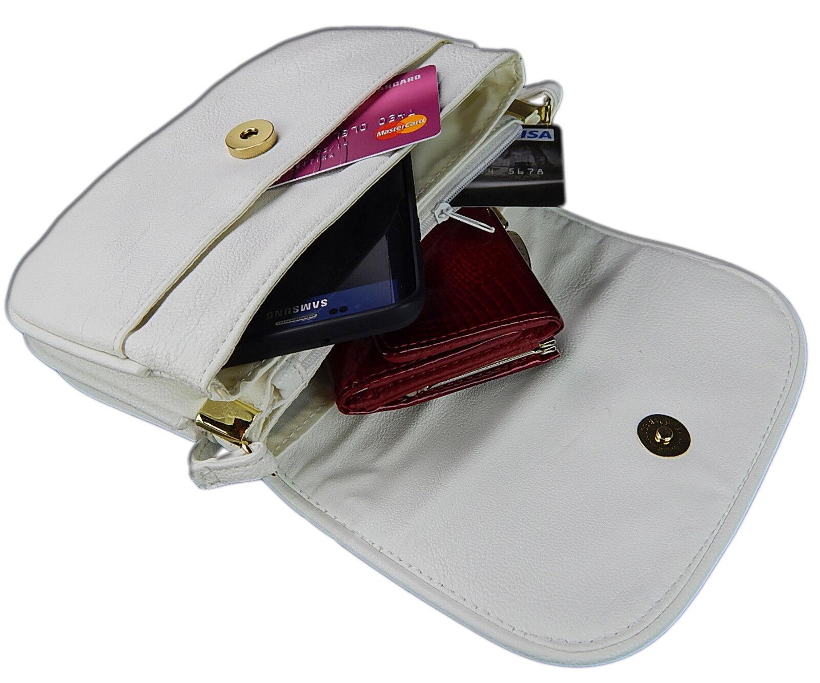 Abendtasche Frauen Exklusive Premium Kleine Handtasche Umhängetasche Weiß 2