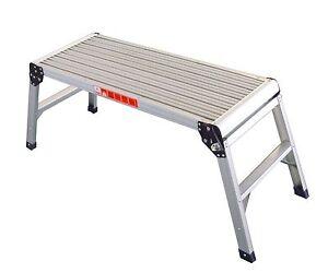 Foxhunter Folding Step Hop Up Aluminium Work Bench