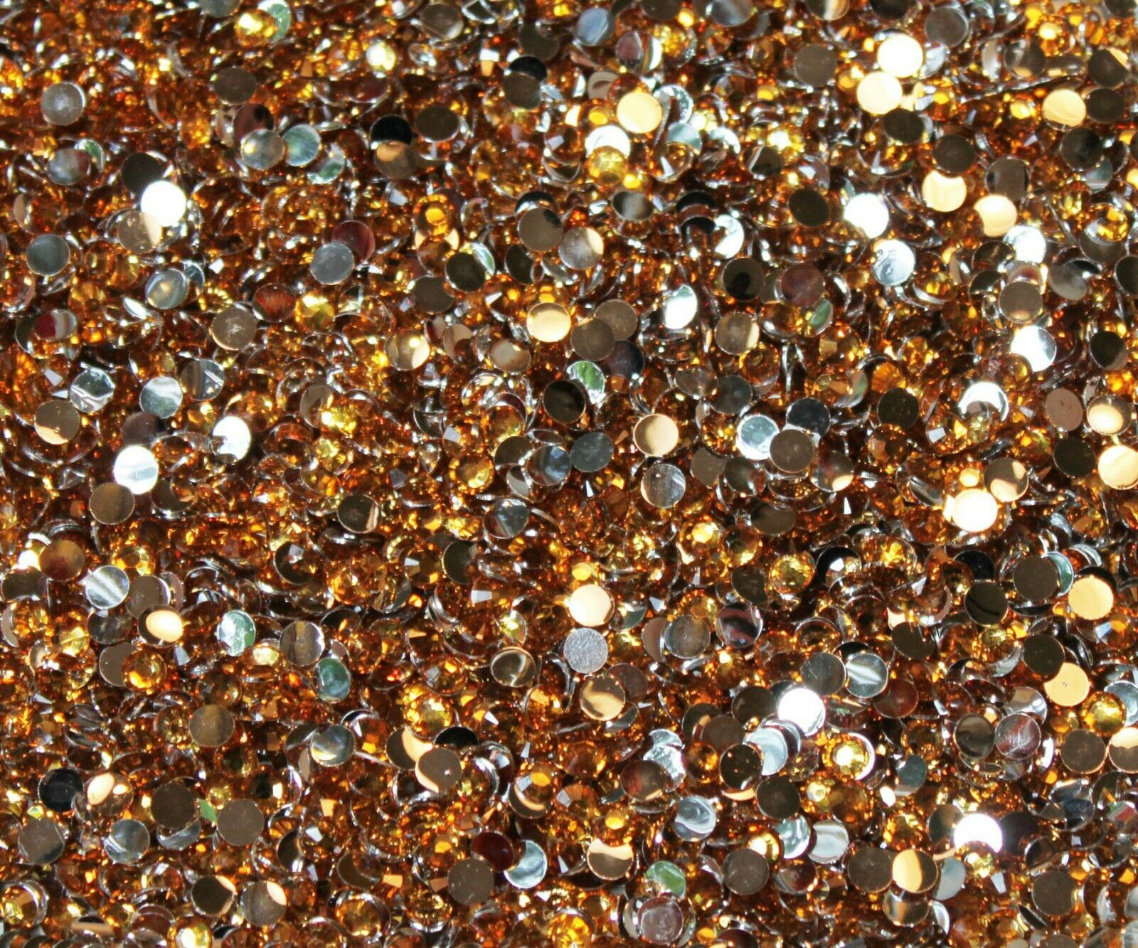 1000 Crystal Flat Back Resin Rhinestones Gems 60 colors, 2mm, 3mm, 4mm, 5mm, 6.5 GOLD