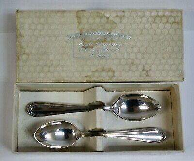 6 x Vintage Hugh Bateman Silver Plated Teaspoons, With Box