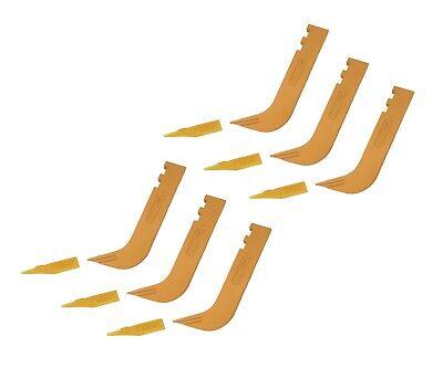 6 - Set Of 8110 Scarifier Shanks With 6y5230 Scarifier Teeth