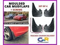4 Mud Flaps Splash Guard Fender Car Mudguard fit for Alfa Romeo Giulia 2016-2019
