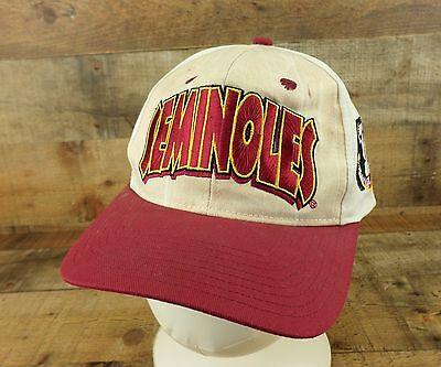 Seminoles Hat Cap Wood Grain Big Logo Noles FSU Florida State University Vtg ()