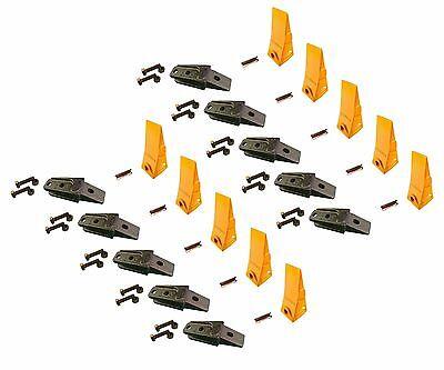10 - Bobcat Style Mini Ex Skid Bolt On Bucket Shanks Teeth Pins Hardware
