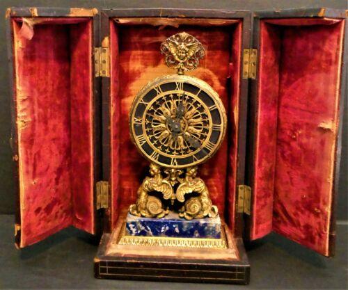 ⭐ E. F. Caldwell & Co Omega Clock In Orig. Box Lapis Base Bronze Dore Untouched