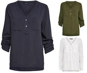 blusa-de-mujer-camisa-tunica-Nova-camiseta-manga-larga-Mullet-negocios