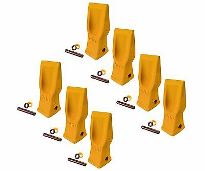 7 Cat Style Excavator Backhoe Skid Bucket H.d. Abrasion Bucket Teeth- 4t-2203