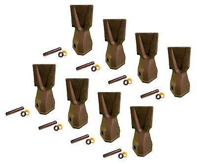 8 Backhoe Bucket Teeth 208-5235 - Penetration Tip W Pin Fits Cat Drs230