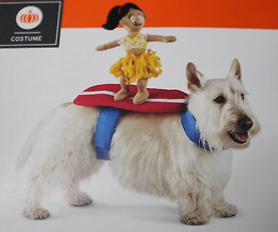 Funny Small Dog Halloween Costumes (HULA GIRL DOG COSTUME Small Medium Halloween Hawaii Funny Cute Rider Surfer)
