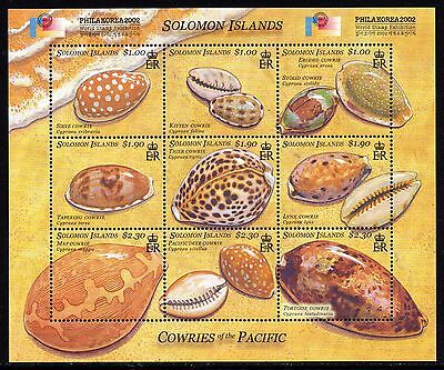Solomon Islands 2002 Shells of Pacific SG 1024-33 Miniature Sheet Unmounted Mint