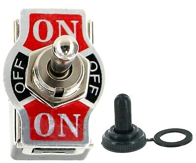 Heavy Duty 20a125v Momentary Spdt On-off-on Toggle Switch Wwaterproof Boot