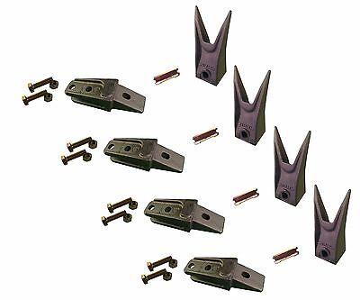 4 - Bobcat Style Mini Ex Skid Bucket Shank Rock Tooth Pin - 7107324 7107321