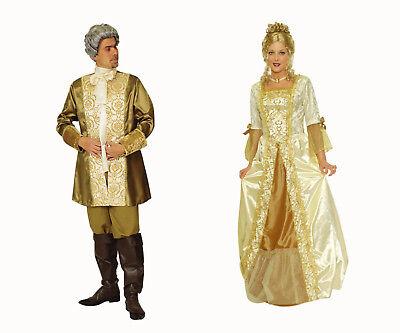 Paar Partner Kostüm PRINZ o PRINZESSIN Damen Herren Barock Rokoko Kleid - Herren Paar Kostüm