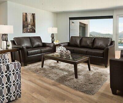 Acme Furniture Cocus Espresso Top Grain Leather Sofa and Loveseat
