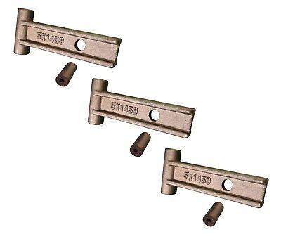 3 Caterpillar Style Scarifier Shank T-lock W Grommet 5k-1458 5k-1459 9f-5116