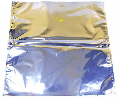 "LOT OF 10 NEW ANTI STATIC SHIELDING BAGS 30"" x 30"" OPEN TOP"