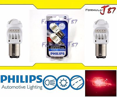 Philips Vision LED Light 1157 Rouge Red Two Bulbs Front Turn Signal Show JDM Fit