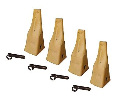 4 Cat Style J200 Small Dozer Ripper Teeth With Pins Retainers - 1u-3209