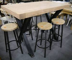 New Recycled Timber French Industrial Bar High Dining Table Stool & industrial bar stools richmond in Melbourne Region VIC | Home ... islam-shia.org