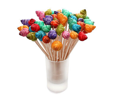 Party Skewers (25 Shell Cocktail Skewers, Party Picks for Beach Wedding, Beach Parties)
