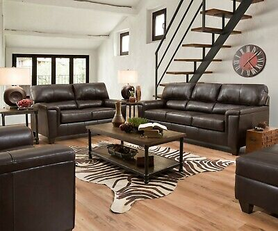Acme Furniture Phygia Espresso Top Grain Leather Sofa and Loveseat -