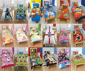 Childrens-Kids-single-duvet-quilt-cover-bedding-sets-with-pillowcases