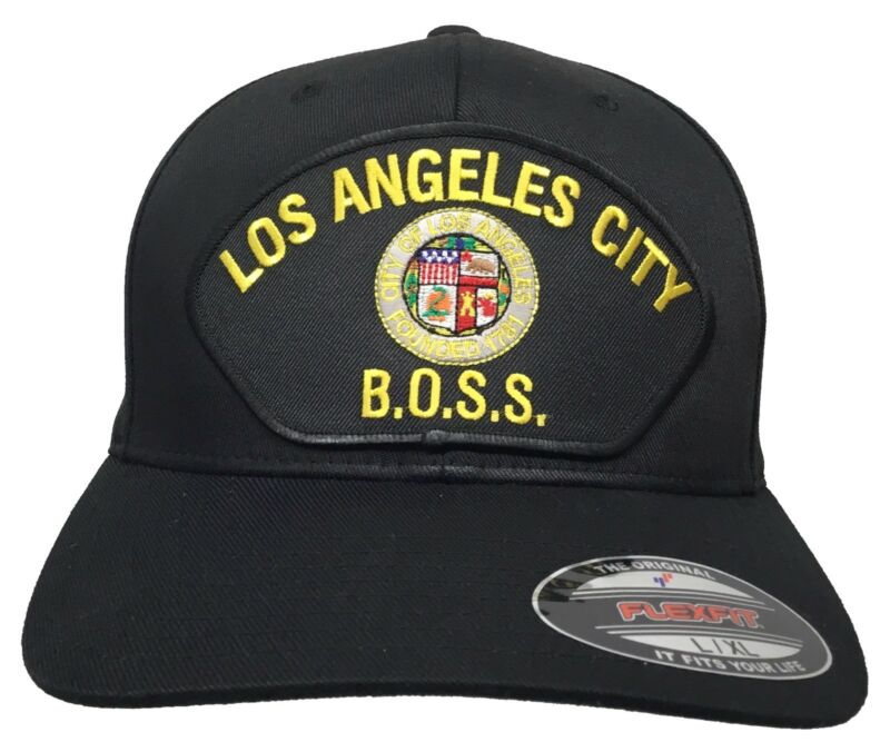 City of Los Angeles BOSS Black L/XL Flex Fit
