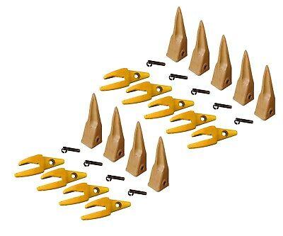 10 Cat Style J200 Backhoe Bucket Shanks 1 Lip Dirt Teeth 1u-3202tl 119-3204