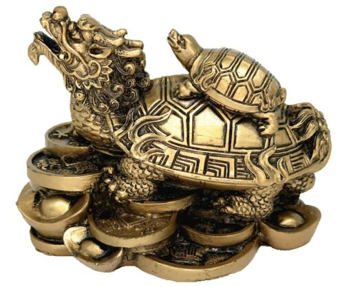 Feng Shui Chinese Dragon Turtle Tortoise Statue Home Office Decor Blessing Gift3