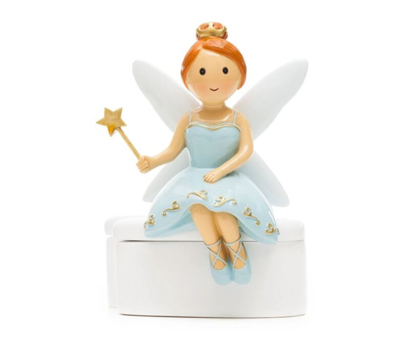 Tooth Fairy Little Drops of Water Statue Tooth Holder Figurine - Mint Green