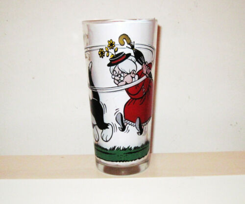 Vintage 1976 Looney Tunes Pepsi GRANNY, SYLVESTER and TWEETY Collectors Glass