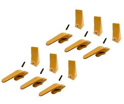 6 Mini Excavator Weld-on Adapters Teeth Pins Combo 238-3204 1 238-3202 Sp