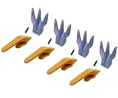 4 Mini Excavator Weld-on Adapters Teeth Pins Combo 238-3204 1 238-3207 Tr3