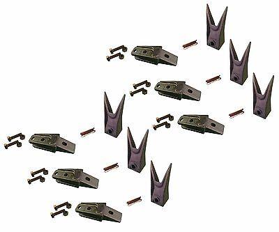 6 - Bobcat Style Mini Ex Skid Bucket Shank Rock Tooth Pin - 7107324 7107321