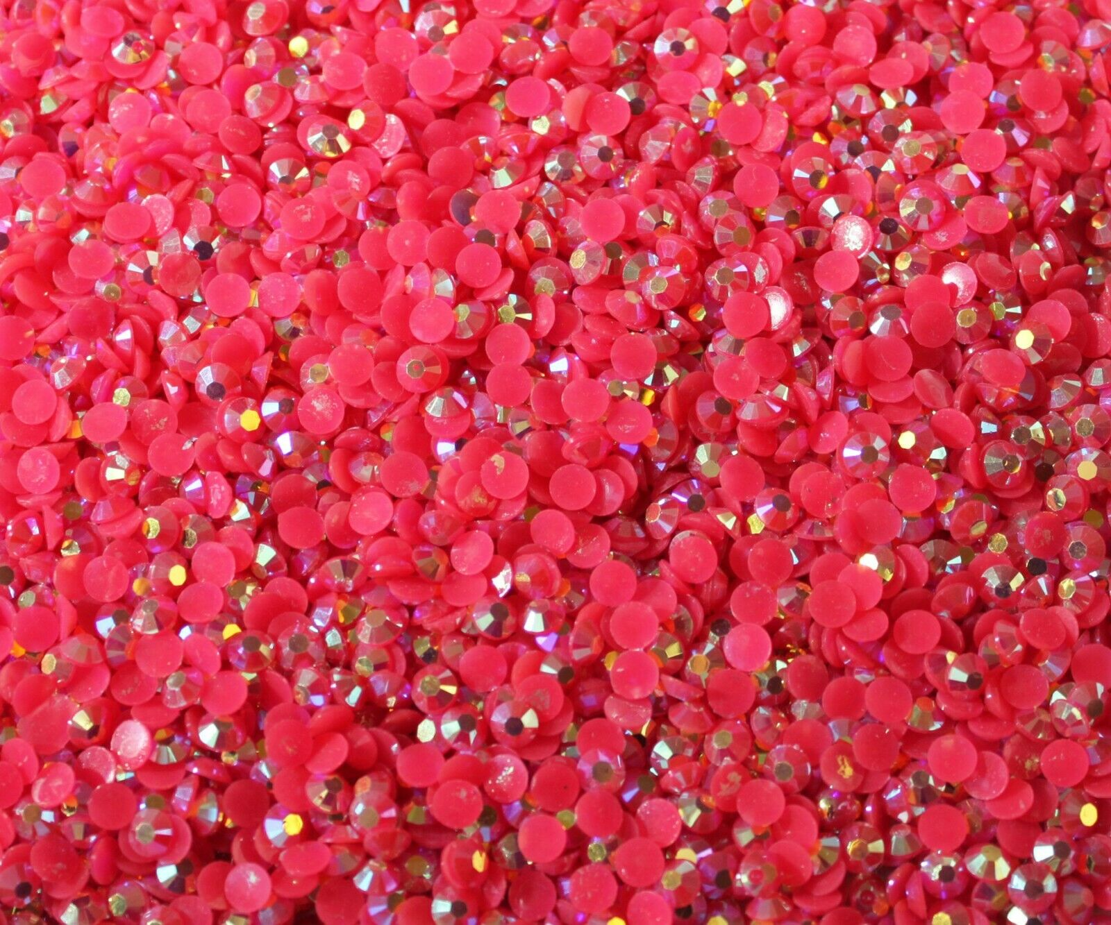 1000 Crystal Flat Back Resin Rhinestones Gems 60 colors, 2mm, 3mm, 4mm, 5mm, 6.5 FUSCHIA AB