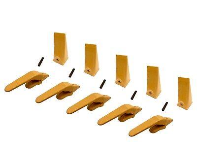 5 Mini Excavator Weld-on Adapters Teeth Pins Combo 238-3204 1 238-3202 Sp