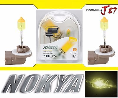 Nokya 2500K Yellow 881 Nok6621 27W Two Bulbs Head Light Replacement Snowmobile