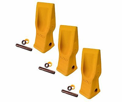 3 Cat Style Excavator Backhoe Skid Bucket H.d. Abrasion Bucket Teeth- 4t-2203