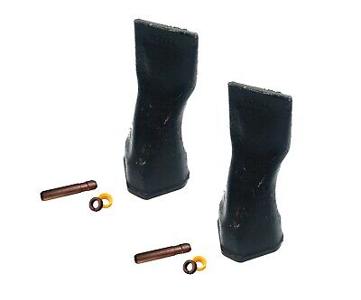 2 - Backhoe Bucket Teeth 208-5232 Chisel Tip With Pins Fits Cat Drs230